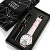 Часы ZIZ с обратным ходом Котики не опаздывают (ремешок пудрово - розовый, серебро) + дополнительный ремешок, фото 3