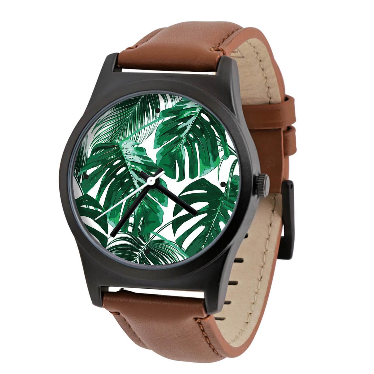 Годинник ZIZ Тропічна зелень + дод. ремінець + подарункова коробка