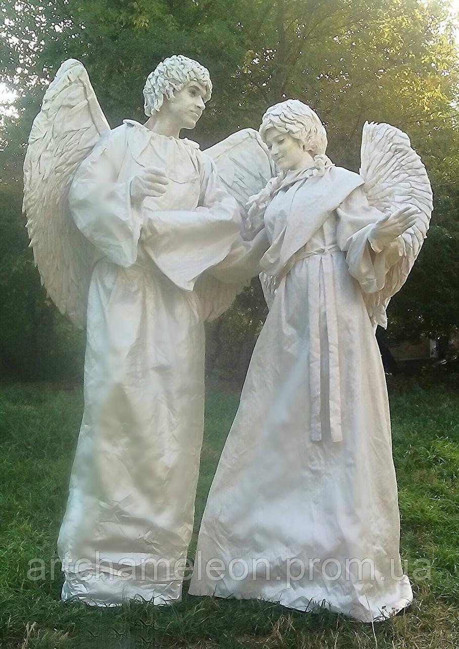 Живые скульптуры Ангелы на свадьбу - Арт Хамелеон Студия в Киеве