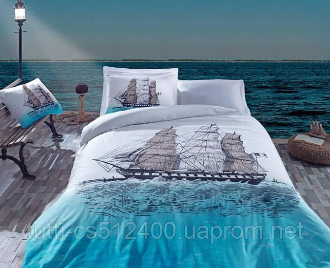 Купить Постельное белье Cotton Box 200х220 ранфорс SHIP MAVI
