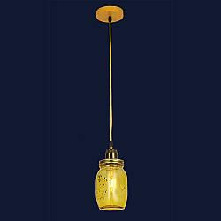 Підвісний скляний світильник&756PR9544-1 YELLOW