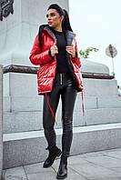 Модная двухсторонняя куртка прямого кроя с наполнителем тинсулейт осень-зима 42-50 размеры разные расцветки