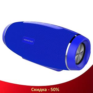 Портативна Bluetooth колонка Hopestar H27 - потужна акустична стерео блютуз колонка Синя