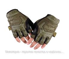 Тактичні рукавички Mechanix (Безпалий). зелені (m-pact1-olive)