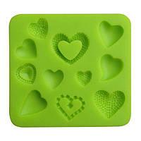 Молд силиконовый для мастики CHI Сердечки 80*85 мм (101955)
