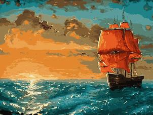 """Картина за номерами Art Craft """"Багряні вітрила"""" 40х50см 10509-AC"""