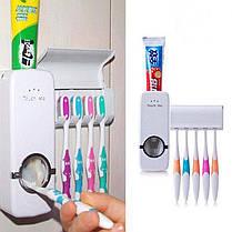 Автоматический дозатор для зубной пасты, подставка для щеток, фото 2
