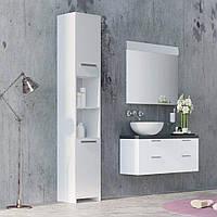 Шкаф в ванную, пенал с полками G0005