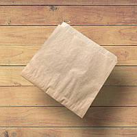 Бумажный уголок под бургеры и блины 160х170 мм. Бурый крафт