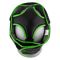 Боксерський шолом тренувальний PowerPlay 3068 M Чорно-зелений (PP_3068_M_Black/Green), фото 3