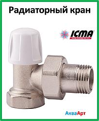 ICMA Кран радиаторный нижний угловой 1/2 Арт. 805