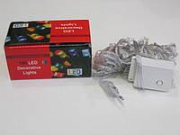 Гирлянда 100 led белый шнур (RGB)
