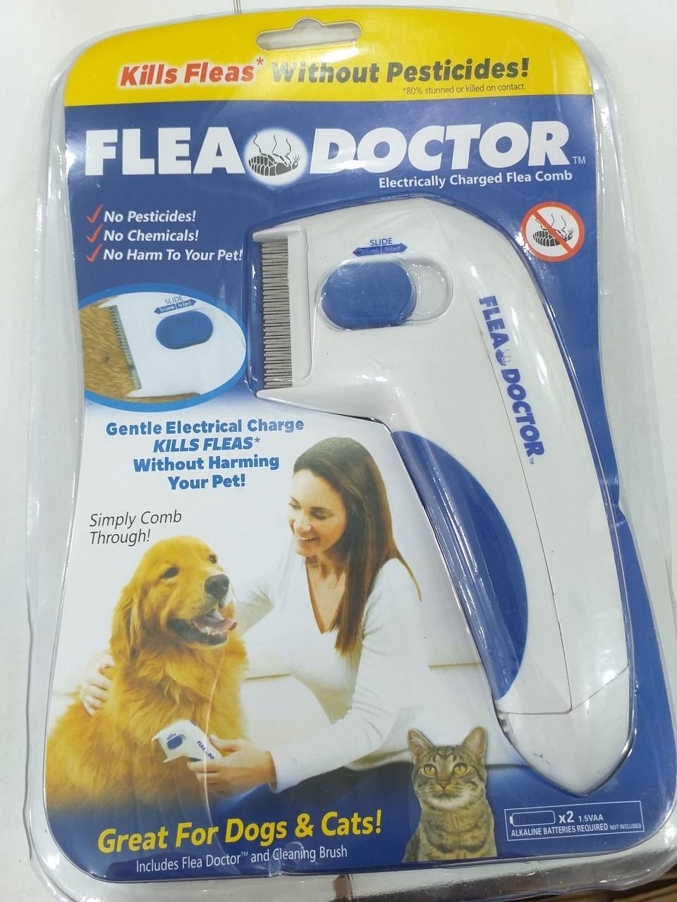 10001 Электрическая расческа Flea Doctor от блох для собак и котов