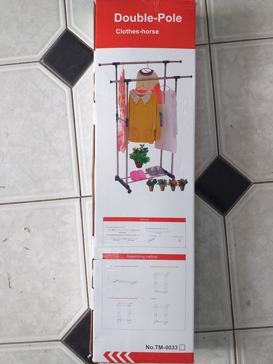 412-032 вешалка напольная double-pole