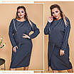Платье летучка креп костюмка 48-50,52-54,56-58, фото 4