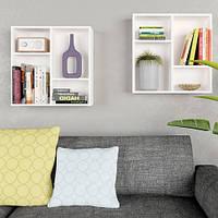 Навесные полки для книг и декора, комплект настенных полок из 2шт G0066