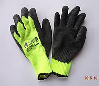 Перчатки рабочие акриловые с латексным покрытием REIS DRAGON IGLOTEX, Польша (упаковка 12 пар), фото 1