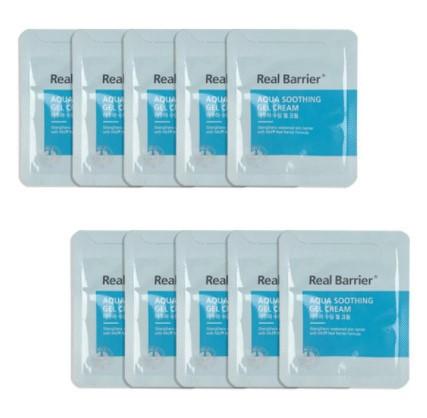 Охлаждающий гель-крем против воспалений Real Barrier Aqua Soothing Gel Cream (Proven 5°C effect) 1,5 мл
