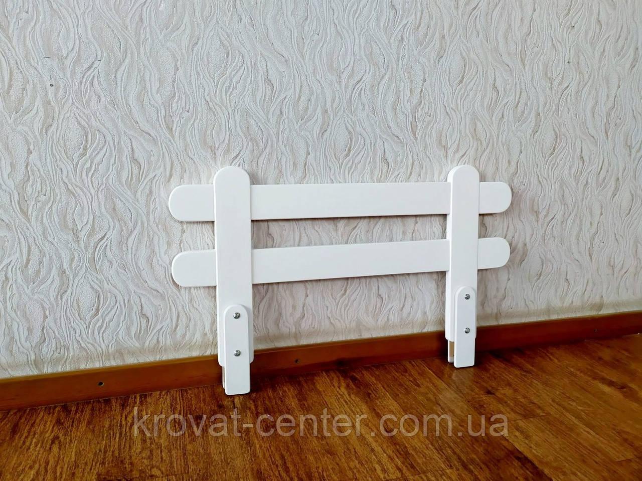 """Белый защитный бортик для детской кровати """"Масу Мини"""" (цвет на выбор) 80 см."""