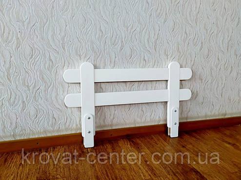 """Белый защитный бортик для детской кровати """"Масу Мини"""" (цвет на выбор) 80 см., фото 2"""
