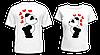 "Парные футболки ""Панды - 2"""