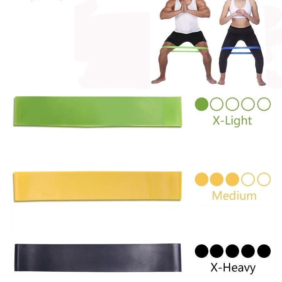 Спортивные тренировочные эластичные резинки 3шт
