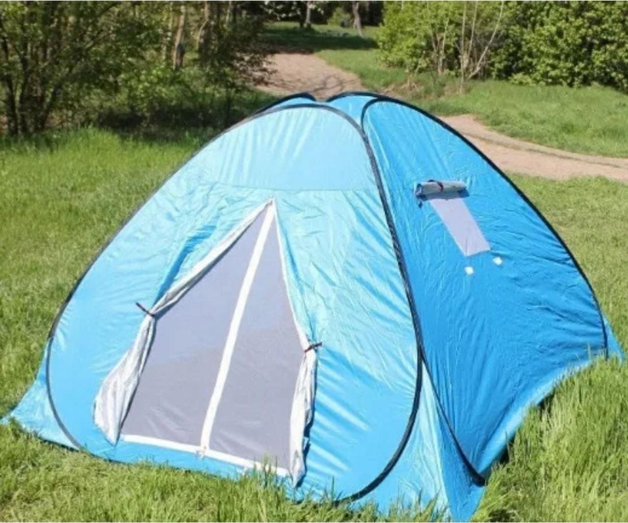 Палатка туристическая автомат четырехместная 200*200*130 см