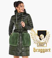 Воздуховик Braggart Angel's Fluff 31845   Осеннее-весенняя женская куртка цвет темный хаки