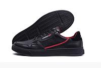 Чоловічі шкіряні кеди Adidas Stan Smith black чорні, фото 1