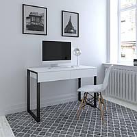 Компьютерный стол, письменный стол с двумя выдвижными ящиками в стиле Loft X-2