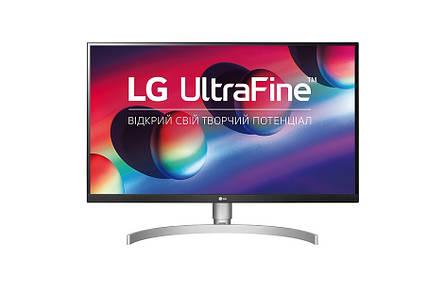 """Монітор LG 27"""" UltraFine 27UL850-W IPS з White/Silver; 3840x2160, 5 мс, 350 кд/м2, DisplayPort, 2хHDMI, 2хUSB3.0, USB Type-C, 2х5 Вт динаміки, фото 2"""