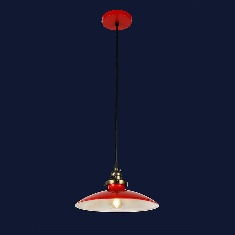 Висячий светильник металлический в стиле лофт цвет красный Levistella&756PRD0031-1 RED