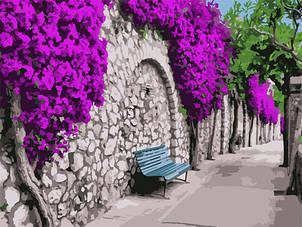 """Картина за номерами Art Craft """"Бугенвіллія в Афінах"""" 40х50см, 10522"""