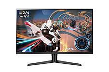 """Монітор LG 31.5"""" UltraGear 32GK650F-B VA Black; 2560x1440, 5 мс, 350 кд/м2, DisplayPort, 2xHDMI, фото 2"""