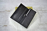 Кошелек Classic & Saralyn нубук на магнитах черный женский, фото 4