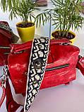 Женская сумка Valery с широким ремешком красная СВ96, фото 3