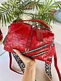 Женская сумка Valery с широким ремешком красная СВ96, фото 10