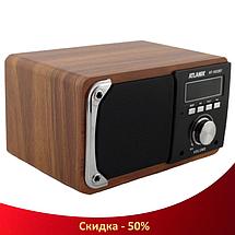 Портативна Bluetooth колонка акустична Atlanfa AT-1822ВТ - FM радіоприймач, 6W + USB Power Bank, фото 2