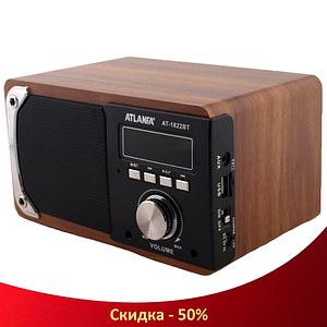 Портативна Bluetooth колонка акустична Atlanfa AT-1822ВТ - FM радіоприймач, 6W + USB Power Bank