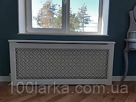 Декоративний екран (короб) решітка на батарею опалення дерево (ясен) R38-K100 780х1000х170 мм.