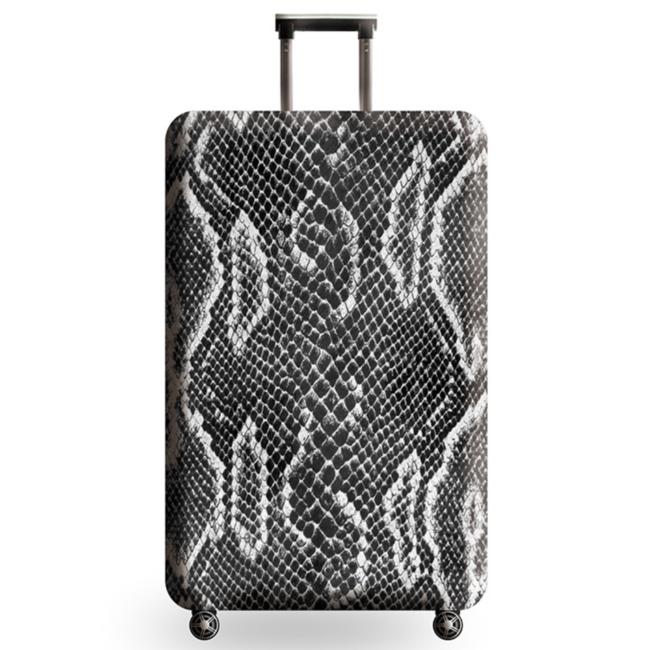 Чехол на чемодан Змеиная кожа M CooLost Темно-серый