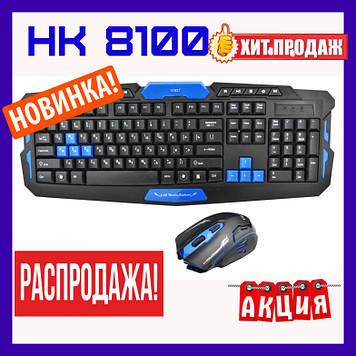 Беспроводная клавиатура с мышкой НК 8100. Беспроводный комплект (клавиатура и мышка)