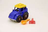 Игрушка трактор Кузнечик 0206, №1 cp0010701062 трактор, лопатка и грабельки 23,5*15,5*17,5см