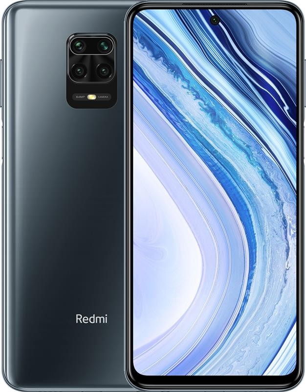 "Смартфон Xiaomi Redmi Note 9 Pro 6/128GB Dual Sim Interstellar Grey; 6.67"" (2400х1080) IPS / Qualcomm Snapdragon 720G / RAM 6 ГБ / 128 ГБ вбудованої +"