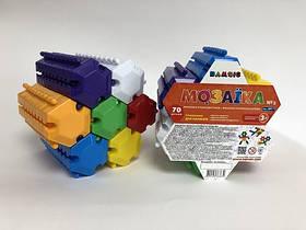 Набір дитячий «Мозаїка різнокольорова №3» артикул 069/3(70 штук). Розмір набіра 12*15 см.