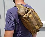 Тактическая универсальная (поясная, наплечная) сумка Silver Knight с системой M.O.L.L.E Black (9100-black), фото 6
