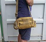 Тактическая универсальная (поясная, наплечная) сумка Silver Knight с системой M.O.L.L.E Black (9100-black), фото 7