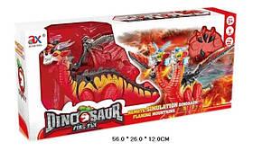 Животное 843A (12шт/2)динозавр двуглавый,батар.,свет,звук,в коробке 56*26*12см