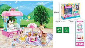 Животные флоксовые MBE18-6 (24шт/2)мороженое-машина,свет,звук,2 фигурки,столик, в коробке 33*25,8*11,5см
