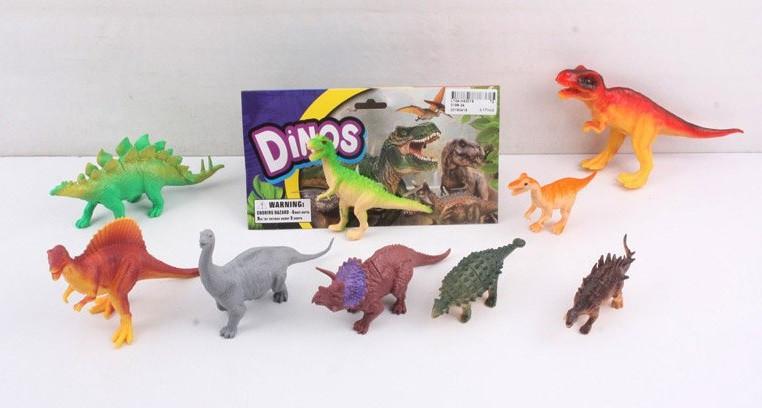 Животные 3198-34 (72шт/2)динозавры,9 видов, в пакете 20см